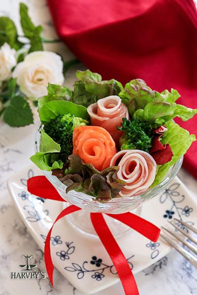 花束のスパイスポテトサラダ