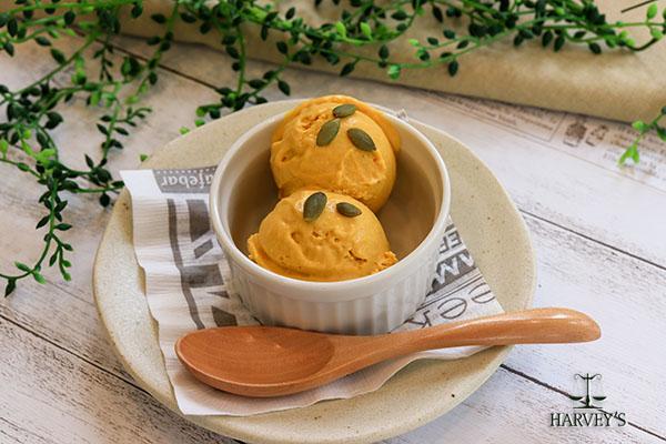 カボチャのスパイスアイスクリーム